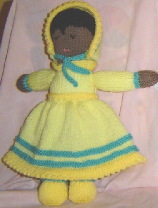 "Doll 8"" tall £8 each. Has two faces, one side awake the other side asleep"
