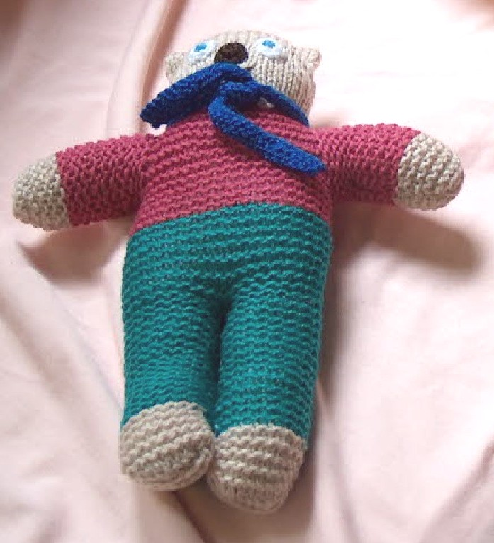 "Dressed teddy 10"" tall £5 each"