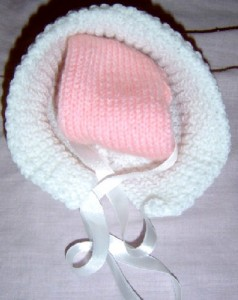 Baby bonnet £2.50 each