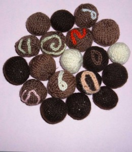 hand knitted chocolates